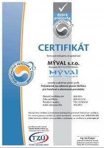 Certifikat Myval 1